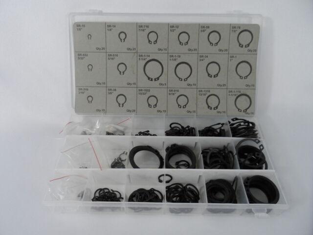 New 300pc E Clip Eclip Retaining Ring Assortment Radial External Shop Garage