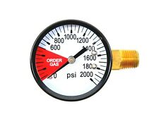 Co2 High Pressure Gauge 0 2000 Psi 14 Npt Lh Threads Beer Soda Keg System