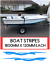 """BOAT STRIPES fishing SAILING MOTOR ROWING boat Hull Stickers 6FTX6/"""" EACH X2"""