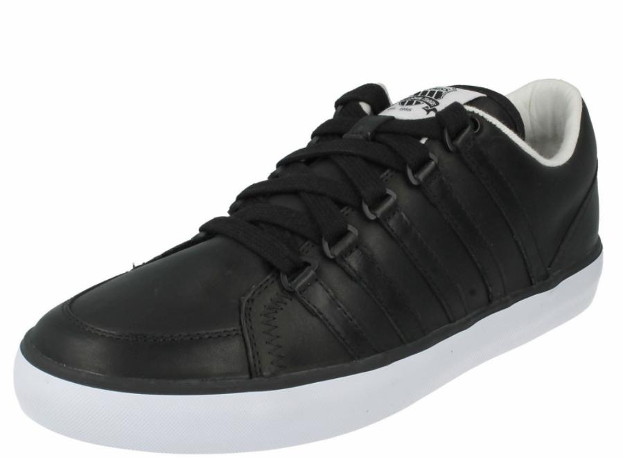K-SWISS 02816-002 GOWMET II VNZ Mn's (M) Black White Leather Lifestyle shoes