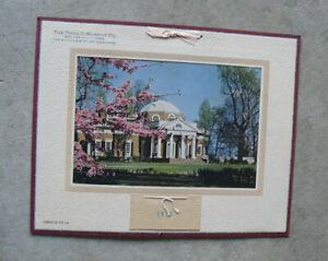 Vintage Murphy Co Salesman Sample 1949 Wall Calendar Litho Print Monticello