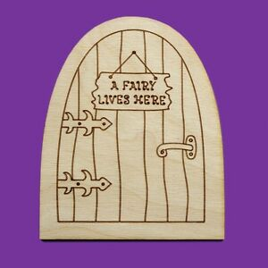 Fairy door wooden house plain blank craft shapes pixie for Fairy door shapes