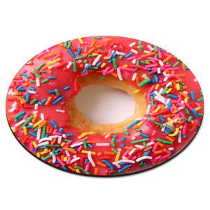 DOUGHNUT-SPRINKLES-PINK-CIRCULAR-PC-COMPUTER-MOUSE-MAT-PAD-Funny-Donut-Circle