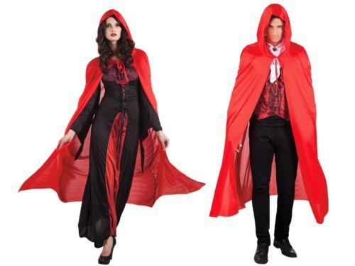 VAMPIRO ROSSO-Rotkäppchen Mantello Diavolo Mantello gothic goth Costume Cappuccio Cappotto 96937