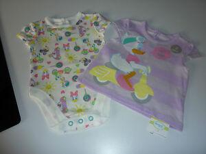 DISNEY Little Girls Daisy Duck T-Shirt and Matching Bodysuit NWT