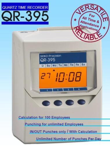 seiko qr395 calculating clock card time recorder clocking in machine