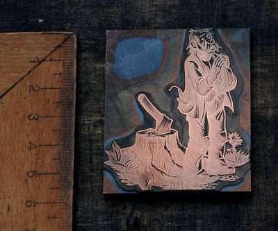 Kraftvoll HolzfÄller Betend Galvano Druckplatte Klischee Eichenberg Printing Plate Copper
