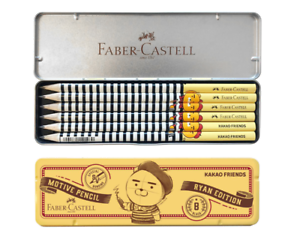 Faber-Castell-KAKAO-FRIENDS-MOTIVE-PENCIL-RYAN-EDITION-6pcs-Set-Hardness-B