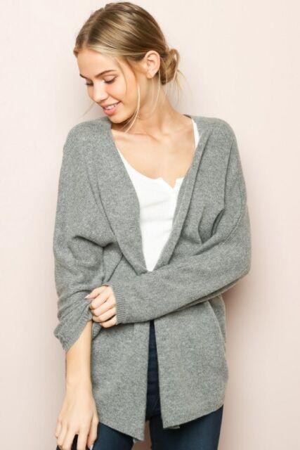 f05af98e98d26 Brandy Melville super soft light weight gray wool blend caroline cardigan  S/M