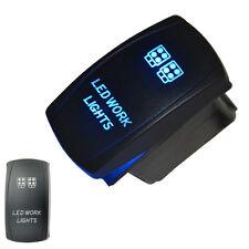 Car Offroad 12V 20A Toggle Rocker Switch Blue LED Work Light Lamp 5P Sales