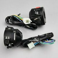 Motorcycle 7/8 Handlebar Horn Turn Signal Electrical Start Switch For Honda Yu