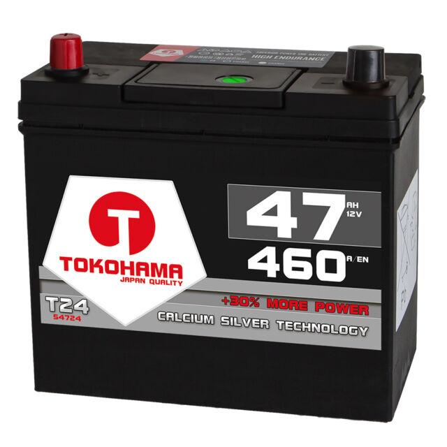 Autobatterie 12V 47Ah 460A/EN Japan Asia + Pluspol links Batterie 54524 45Ah
