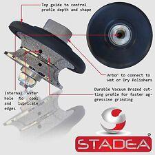 "STADEA Diamond Profile Grinding Wheel Full Bullnose 3/4"" Granite Stone Concrete"