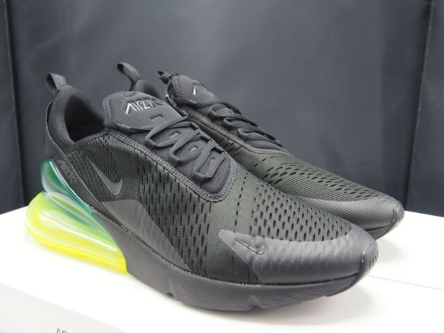 best sneakers dad02 a25aa Nike Air Max 270 Black / Volt Ah8050-011 Men's Size 14 US