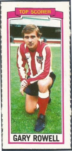 TOPPS-1981-FOOTBALLERS #160-SUNDERLAND-GARY ROWELL-TOP SCORER