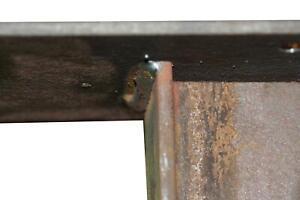 Tischkufe Industriedesign Tischgestell schwarz Rohstahl 80 x 73 Design Bridge
