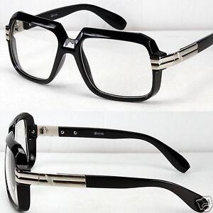 Wide Framed Fashion Glasses : New Fashion Large Black Silver Square Clear Lens Frames ...