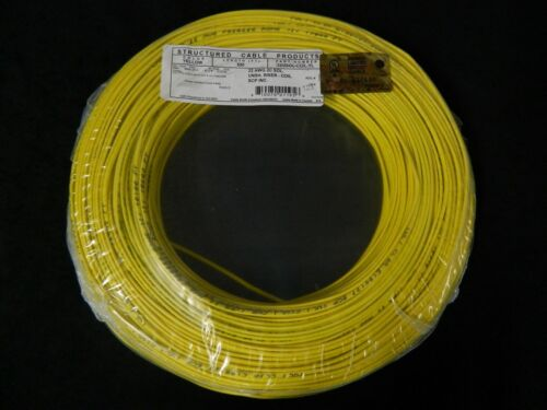 22 GAUGE 2 CONDUCTOR 50 FT YELLOW ALARM WIRE SOLID COPPER HOME SECURITY CABLE