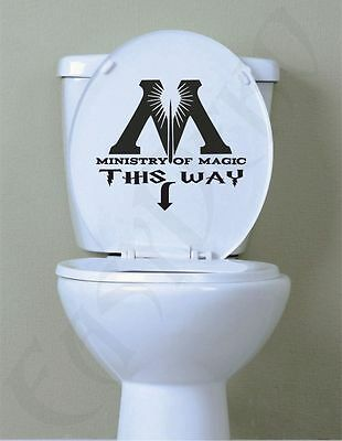 WC Aufkleber Potter Ministry Of Magic Toilette Bad Folie Sticker Funny Wandattoo
