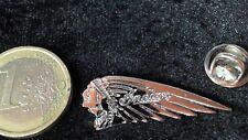 Indian Motorbikes Logo Pin Badge Edelstahl Gesicht nach links