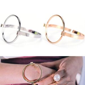 Stainless-Steel-Bracelet-Simple-Charm-Women-Circle-Bangle-JewelryWristbandLDU