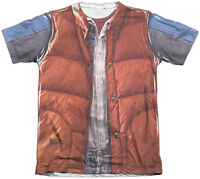 Back To The Future Mcfly Vest Vintage Feel Sublimation Print T-shirt -fantasy Se