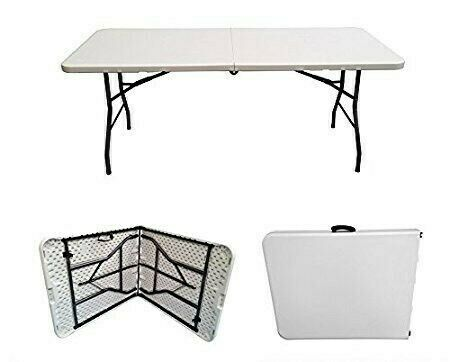 Rectangle Table 1.8m Plastic Fold Up Heavy Duty