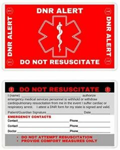 Dnr Do Not Resuscitate Wallet Card Dnr 101 Quantity Ebay