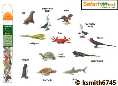 Safari Galapagos TOOB Jouet en plastique Wild Zoo Mer Animal tube paquet de 12 nouveaux