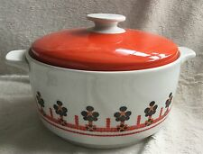 RARE ROYAL DOULTON KALEIDOSCOPE LARGE TWO HANDLED LIDDED CASSEROLE DISH