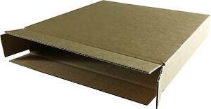 """stark 75 St 12/"""" LP Versand Kartons für 1-15 Schallplatten 325x55x325 mm"""