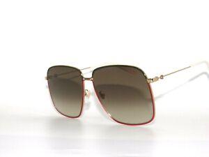 e06d33604 Gucci GG0394S 003 Gold Green Red Brown Gradient 0394 Sunglasses | eBay