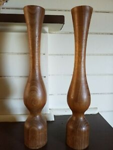 pair-of-large-antique-stylish-wooden-candleholders-candlesticks