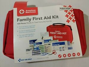 American Red Cross Family First Aid Kit 120 Pieces Everyday Injuries Bandages Op