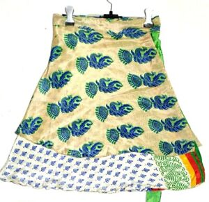 Multi Dot Print Short Mini Skirts Women Summer Ruffle High