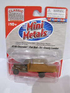 Classic Metal Works Mini Metals 41 46 Chevrolet Flatbed Tri County Lumber 1 87 Ebay
