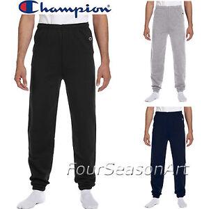 8d4b44b92c04 Image is loading Champion-Mens-Elastic-Athletic-Eco-Blend-Sweatpants-S-M-L-