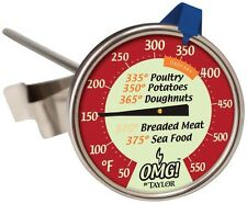 Taylor 804OMG Analog Deep Fry Thermometer, Multicolored