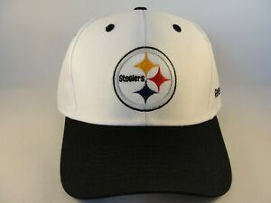 big sale 3fec4 1f37e Image is loading Pittsburgh-Steelers-NFL-Reebok-Adjustable-Strap-Hat-Cap-