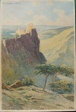 Rudolf Pöpl, Ruine Aggstein, Wachau, Aquarell, ca 1920