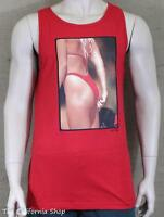 Vans Hank Fotos Tight Squeeze Bikini Tank Top Mens Red Tee Shirt