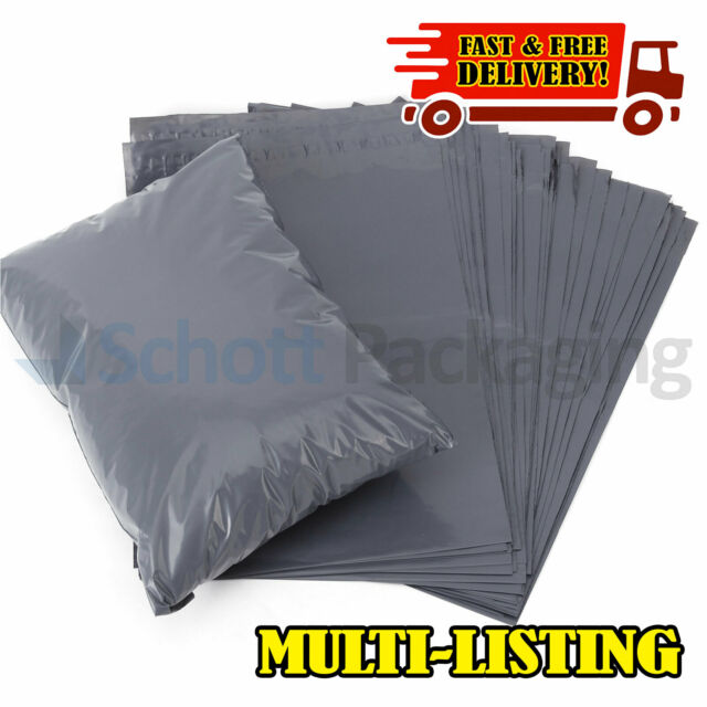 Grey Mailing Bags Self Sealing Strong Parcel Postage Plastic Post Poly Envelops