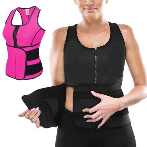 Femmes Fille Slimming Belly Néoprène Gilet Sauna Sweat Body Shaper Sports S