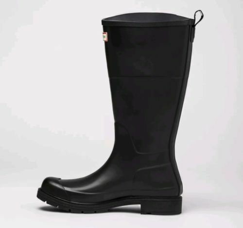 Hunter Alto botas de Lluvia para Hombres Negro Mate Nueva línea de destino Impermeable Nuevo