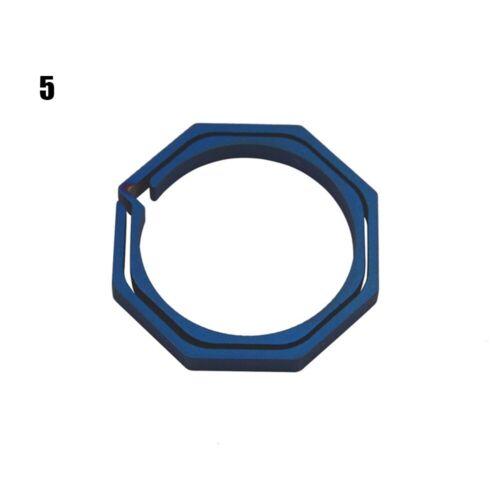 Quickdraw TC4 Ti Hook Keyring Octagon Titanium Buckle Keychain outdoor clip kit