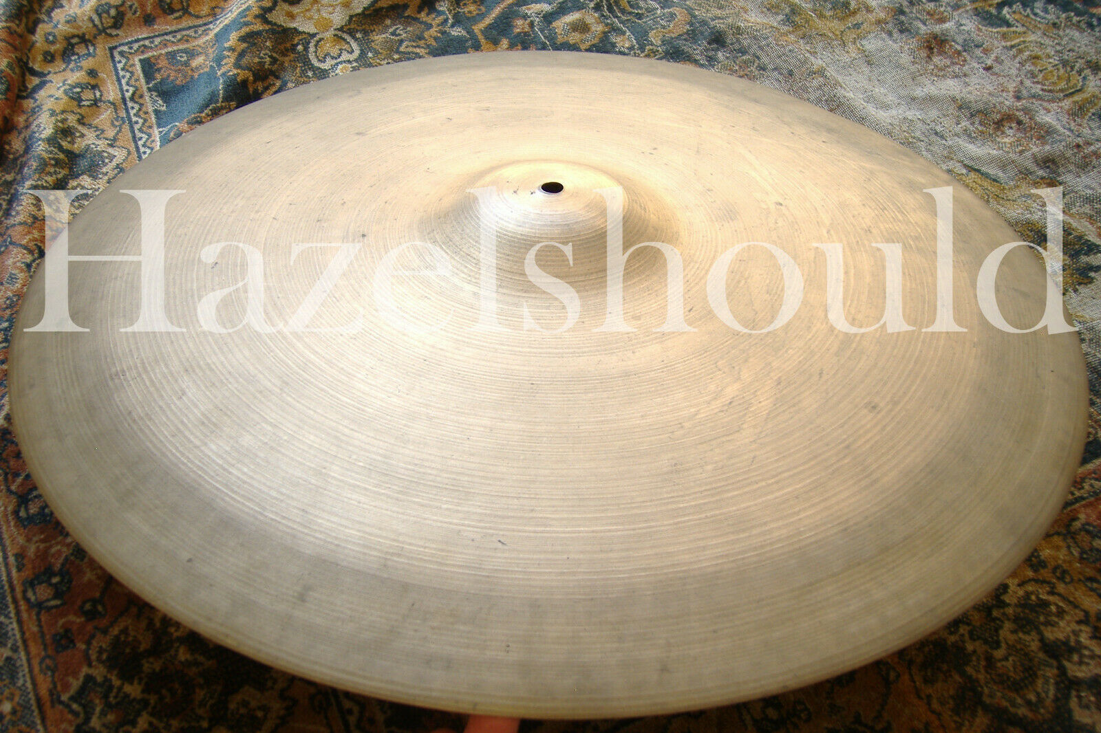 SOUNDFILE  RARE DRY Vintage ZILDJIAN 1940s TRANS STAMP 22  Ride 2732 Gs  EXCD