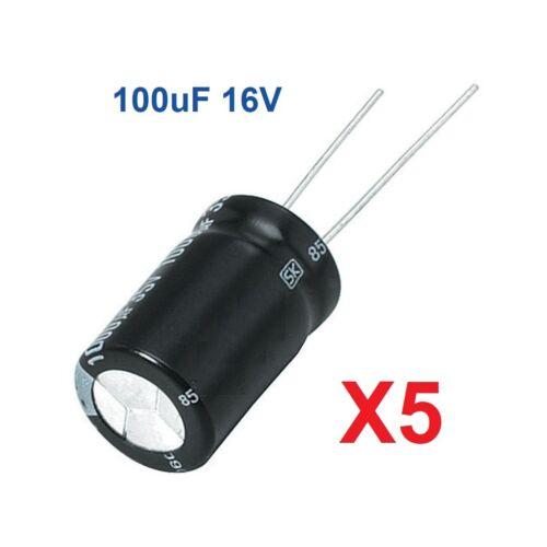 5 Unidades Condensador Electrolitico 12 Valores a elegir De 0,22uF a 470uF