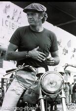 STEVE MCQUEEN NORTON MOTORCYCLE TAG HEURE MONACO WATCH LE MANS 24 PHOTOGRAPH