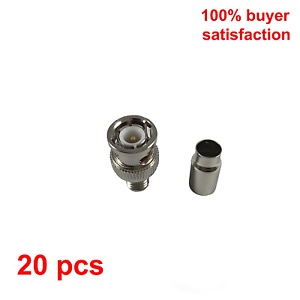 20pcs RG59 BNC Male CRIMP-On Connector