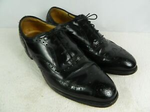johnston murphy Heritage Wingtips BLACK MADE IN USA SIZE 9